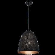 Bright Star Agnes Narrow Dome Black Pendant Light