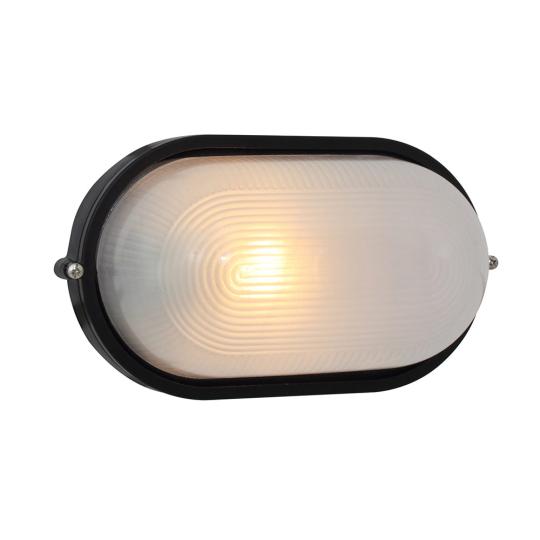 Eurolux Large Oval Black Bulkhead Light without Grid