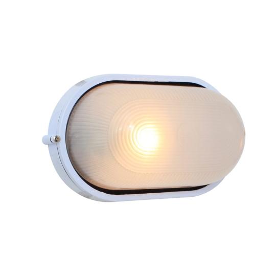 Eurolux Large Oval White Bulkhead Light without Grid