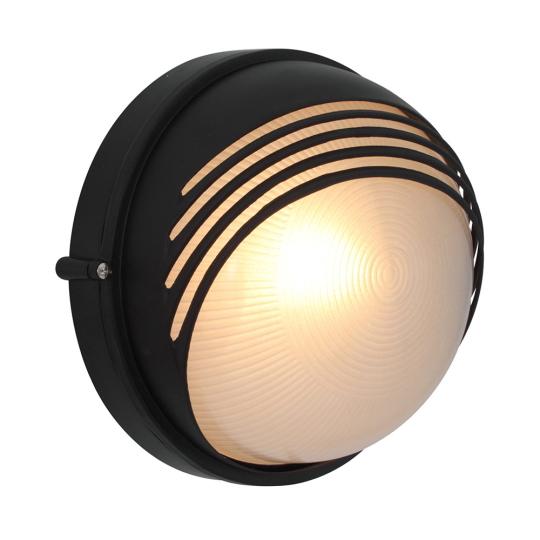 Eurolux Large Round Moon Black Bulkhead Light with Eyelid