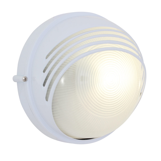 Eurolux Large Round Moon White Bulkhead Light with Eyelid