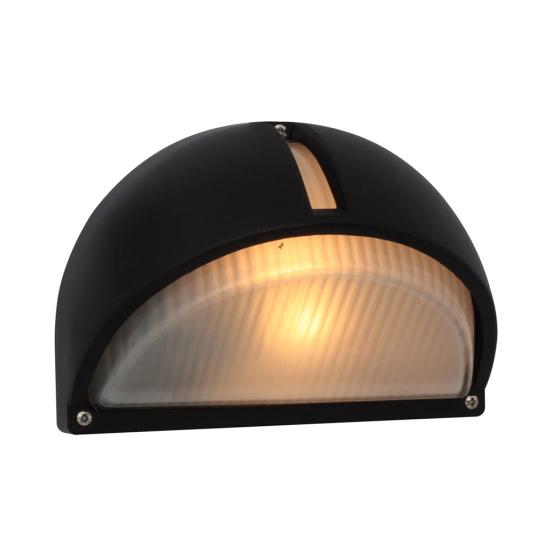 Eurolux Lemon Wedge Black Bulkhead Light