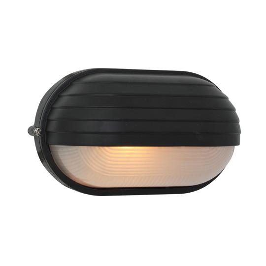 Eurolux Oval Large Eyelid Black Bulkhead Light