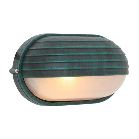 Eurolux Oval Large Eyelid Verde Green Bulkhead Light