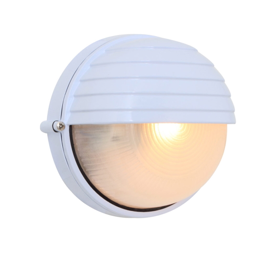 Eurolux Small Round White Bulkhead Light with Eyelid