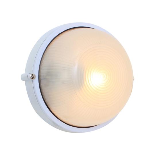 Eurolux Small Round White Bulkhead Light without Grid
