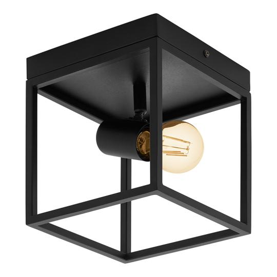 Eglo Silentina 1 Light Black Flush Mount Ceiling Light