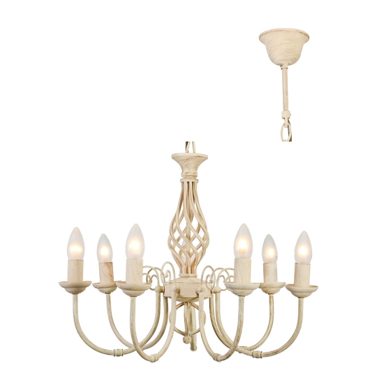 Eurolux Bella 7 Light Cream Chandelier