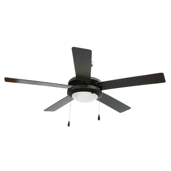 Bright Star FCF004 BLACK Ceiling Fan With Light