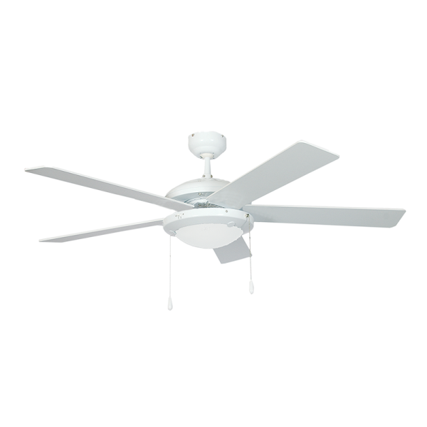 Bright Star FCF004 WHITE Ceiling Fan with Light