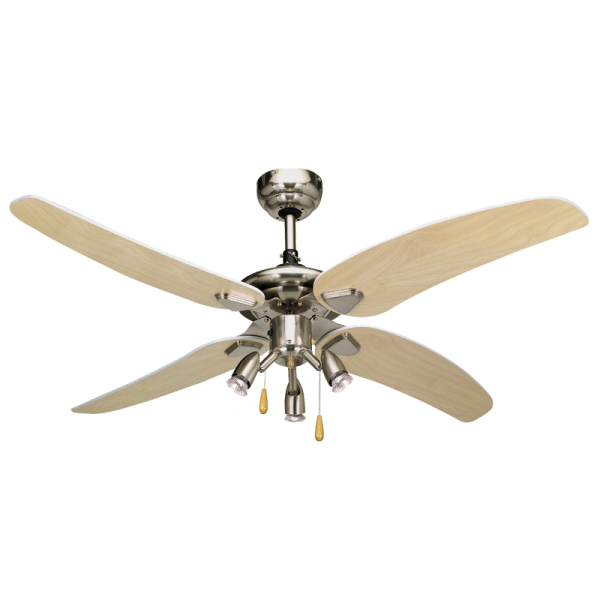 Bright Star FCF008 SATIN Ceiling Fan with Lights