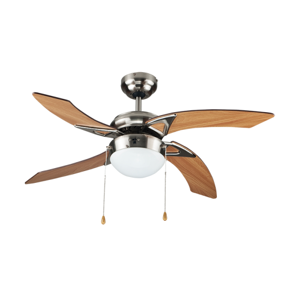 Bright Star FCF035 SATIN NICKEL Ceiling Fan with Light