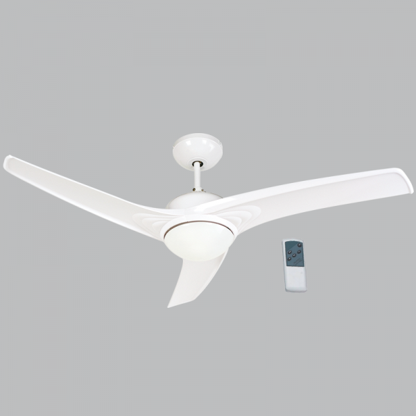 Bright Star FCF038 WHITE Ceiling Fan with Light