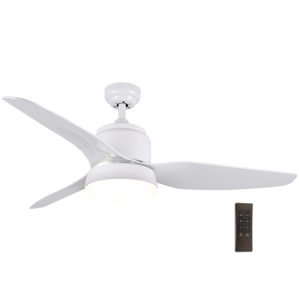 Bright Star FCF040 WHITE Ceiling Fan with Lights