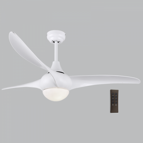 Bright Star FCF050 WHITE Ceiling Fan with Light