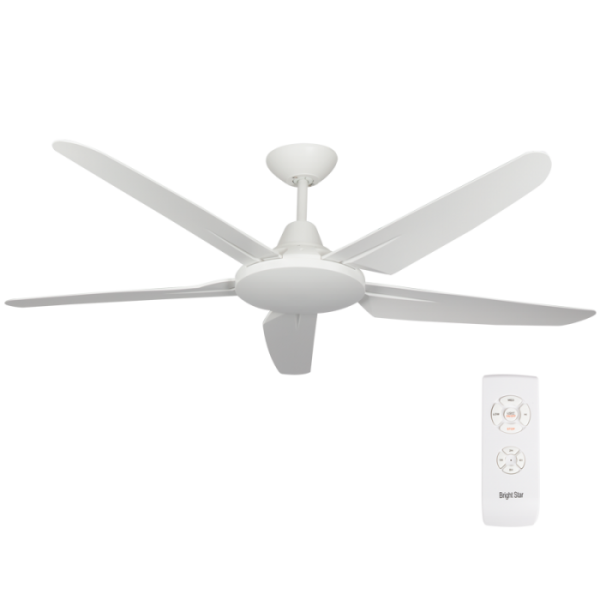 Bright Star FCF054 WHITE Ceiling Fan