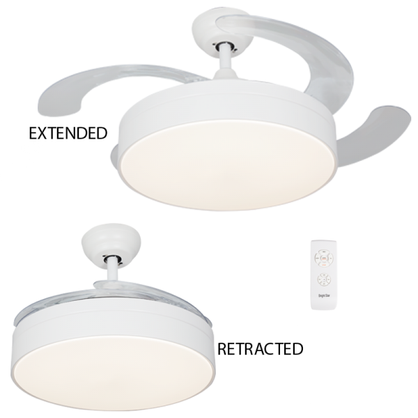 Bright Star FCF055 WHITE Ceiling Fan with Light