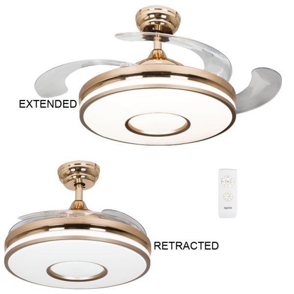 Bright Star FCF056 BRASS Ceiling Fan with Light