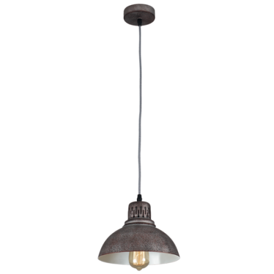 Bright Star Rust Dome Pendant Light