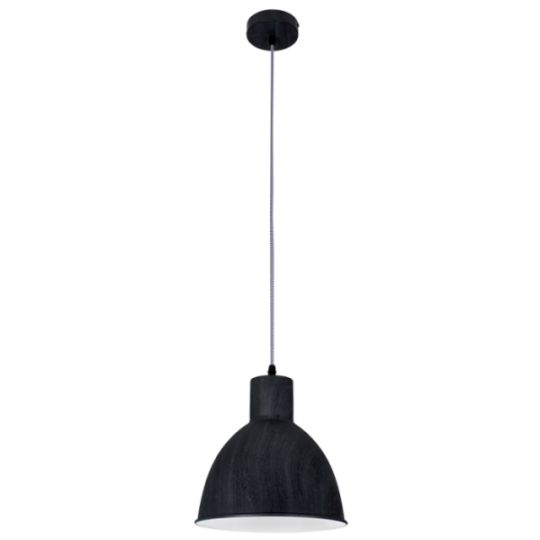 Bright Star Blair Dark Wood Grain Finish Pendant Light