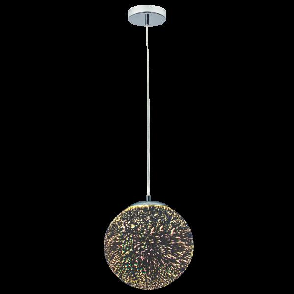 Bright Star Donalda 3D Patterned Globe Glass Pendant Light