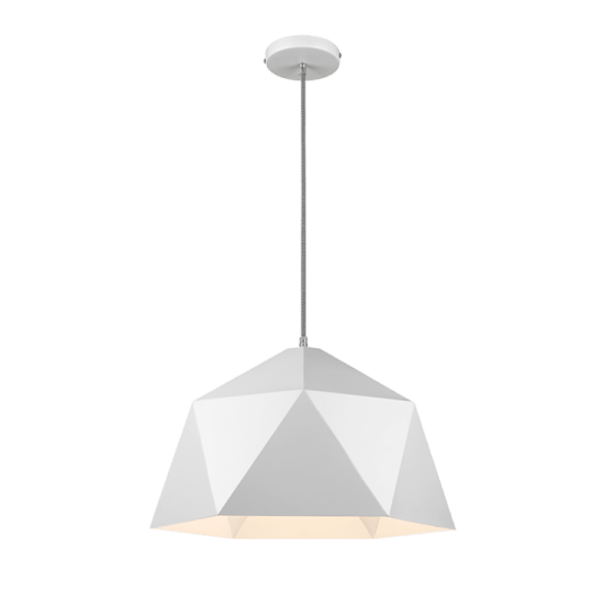 Bright Star Adamina White Pendant Light