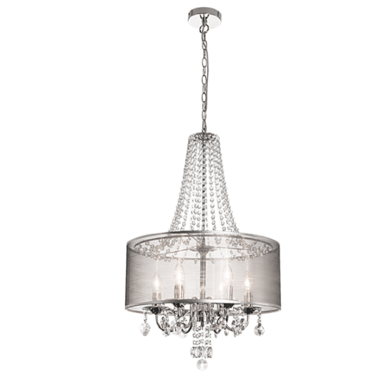 Bright Star Ailith Long Crystal Pendant Light