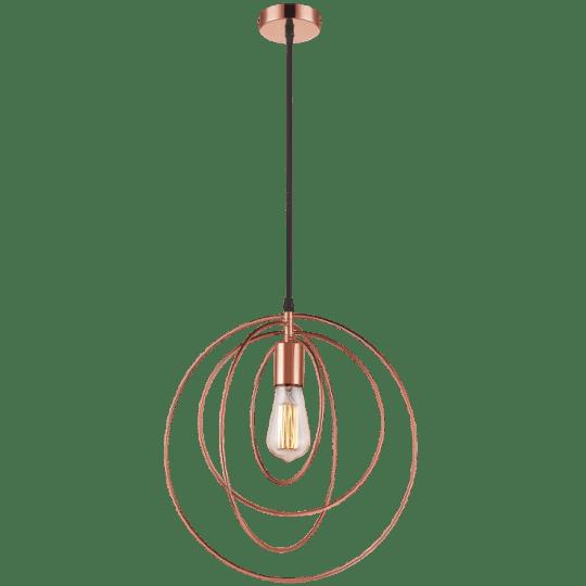 Bright Star Ann Circular Copper Pendant Light