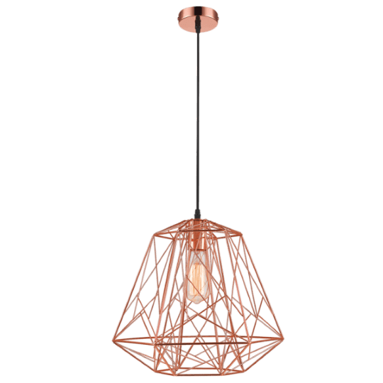 Bright Star Ann Maze Copper Pendant Light