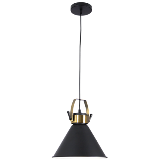 Bright Star Annag Black Cone Pendant Light