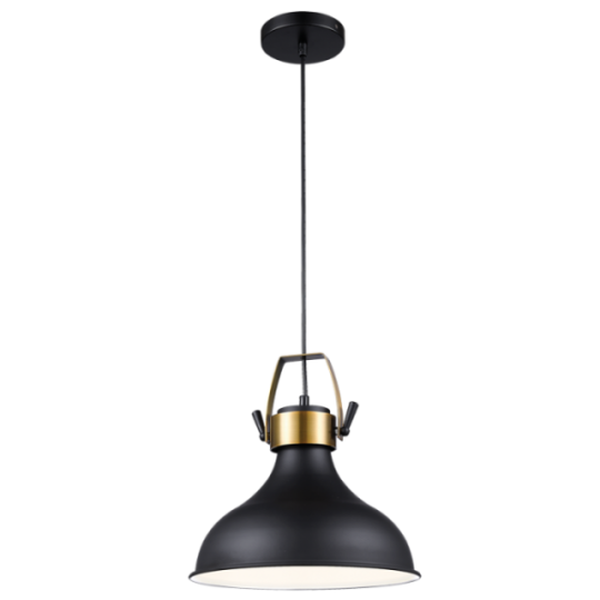 Bright Star Annag Wide Black Pendant Light