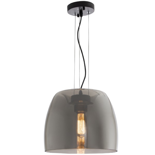 Bright Star Elspeth Dome Smoke Glass Pendant Light
