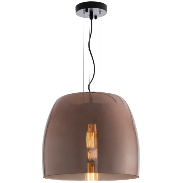 Bright Star Elspeth Dome Rose Gold Glass Pendant Light