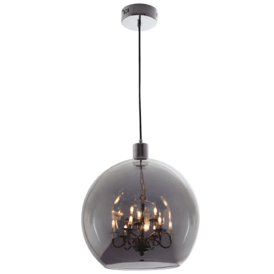 Bright Star Ailsa Smoke Glass Pendant Light