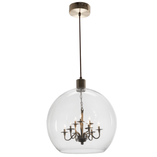 Bright Star Ailsa Clear Glass Pendant Light