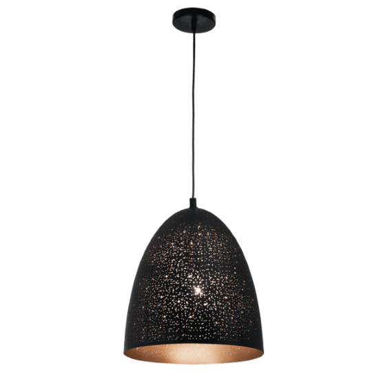 Bright Star Agnes Narrow Dome Black Pendant Light