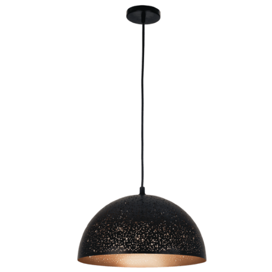 Bright Star Agnes Wide Dome Black Pendant Light