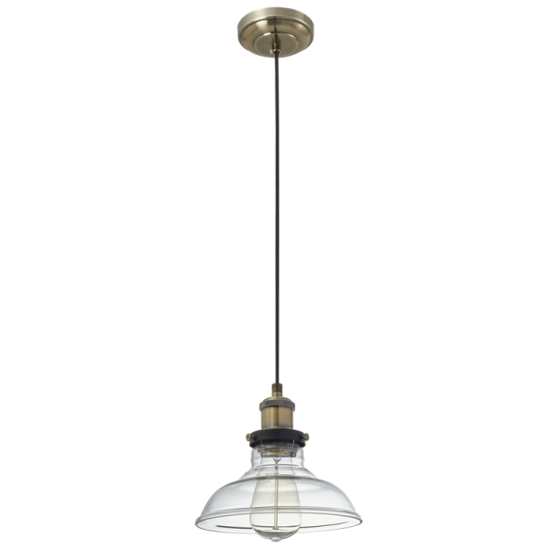 Bright Star Cairstine Wide Bell Clear Glass Pendant Light