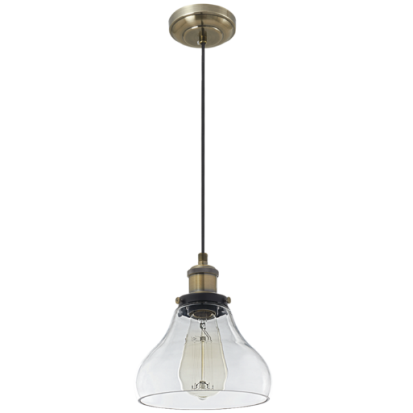 Bright Star Cairstine Narrow Bell Clear Glass Pendant Light
